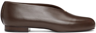 Lemaire Brown Stitch Slippers