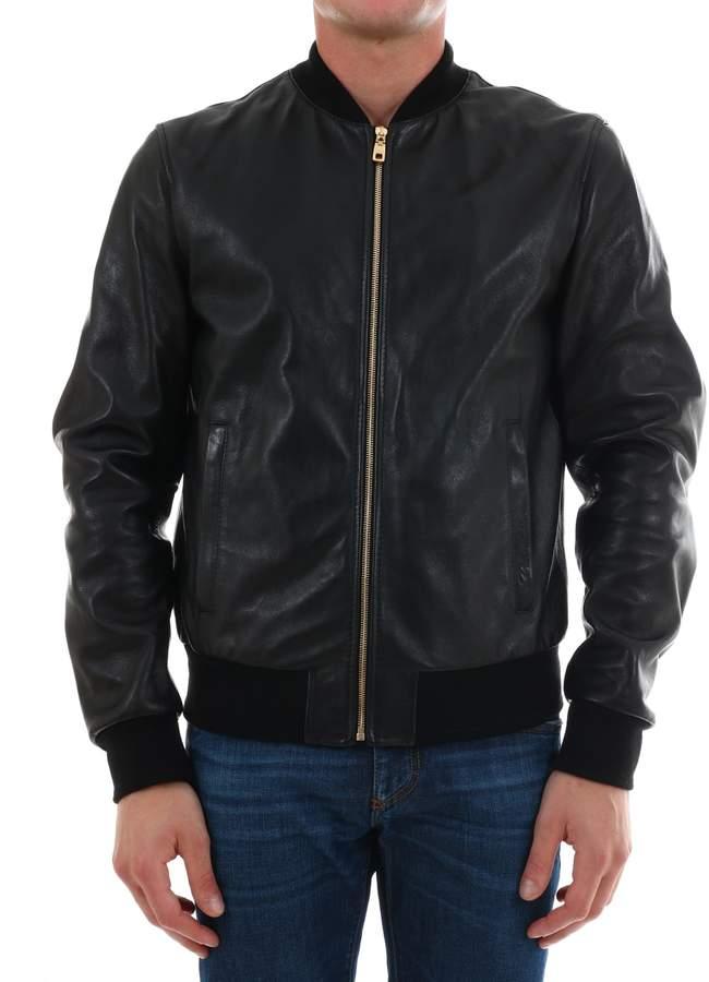 49f863b6c Leather Bomber Jacket