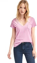 Gap Vintage wash sueded V-neck tee