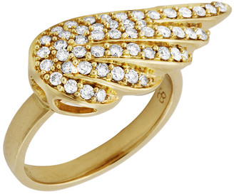Sydney Evan Diamond Angel Wing Ring - Yellow Gold