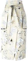 Maison Margiela floral print skirt - women - Silk/Cotton/Linen/Flax/Polyester - 40