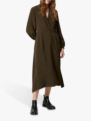 French Connection Hadiya Drape Dress, Summer Moss