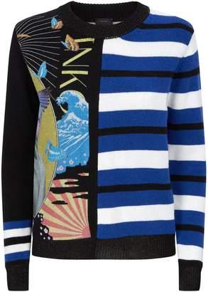 Pinko Graphic Print Jacquard Sweater