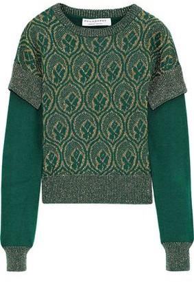Philosophy di Lorenzo Serafini Layered Metallic Wool-jacquard Sweater