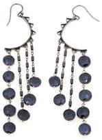 Chan Luu Black Spinel Sterling Silver Beaded Dangle Earrings
