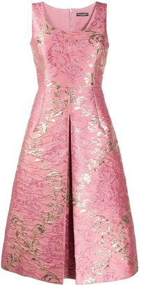 Dolce & Gabbana Jacquard Floral Pattern Dress