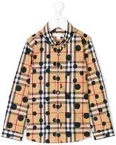 Burberry check polka-dot shirt