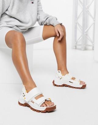 CAT Footwear CAT Progressor chunky utility sandals in white