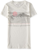 Aeropostale Mountain Stripes Graphic T
