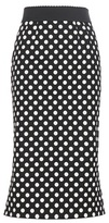 Dolce & Gabbana Polka-dot Stretch Cotton-twill Skirt
