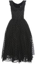 Marc Jacobs Polka-dot Silk Midi Dress