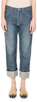 Loewe Cuffed Denim Jeans with Embroidered Pocket