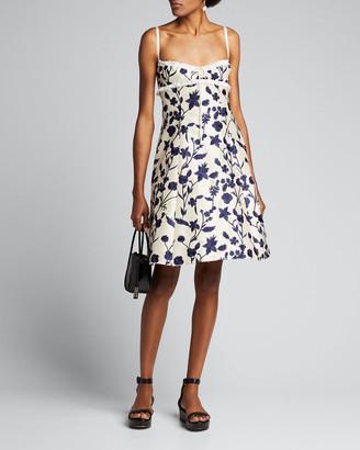 Brock Collection Lace-Trim Floral Print Dress