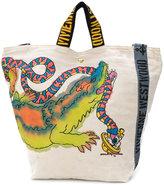 Vivienne Westwood crocodile print logo tote