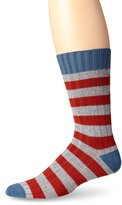 Pact Men's Confetti Stripe Work Crew Sock