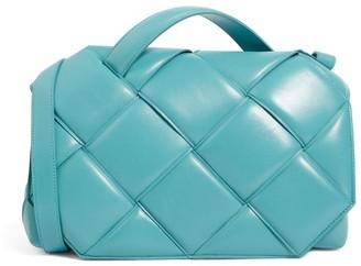 Bottega Veneta Leather Padded Intrecciato Top-Handle Bag