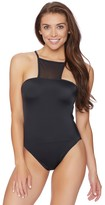 Nautica Soho Solids One High Neck One Piece