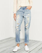 Hollister Stretch High-Rise Crop Slim Boyfriend Jeans