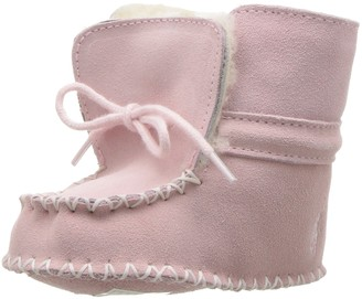 Polo Ralph Lauren Kids Baby-Girl's Pocono Pink Suede Boot 1 M US Infant