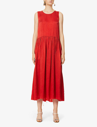 UMA WANG Abela sleeveless satin midi dress
