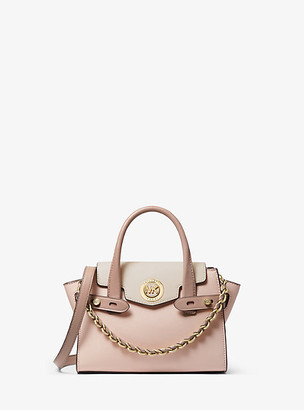 Michael Kors Carmen Extra-Small Color-Block Saffiano Leather Belted Satchel