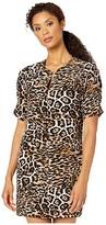 Karen Kane Leopard Print Shift Dress (Leopard) Women's Dress