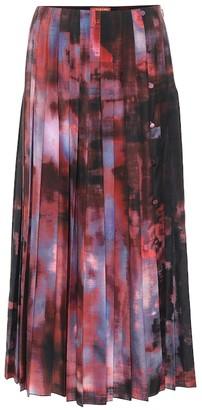 Altuzarra Bennie printed pleated midi skirt