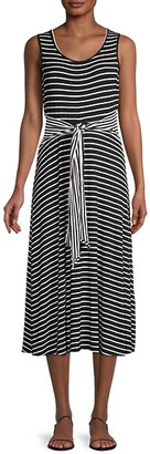 Max Studio Striped A-Line Dress