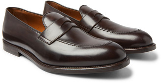 Brunello Cucinelli Leather Penny Loafers - Men - Brown