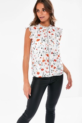 iClothing Alson Floral Blouse in White