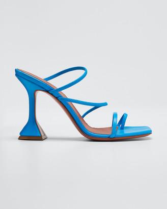 Amina Muaddi Naima Strappy Leather Slide Sandals