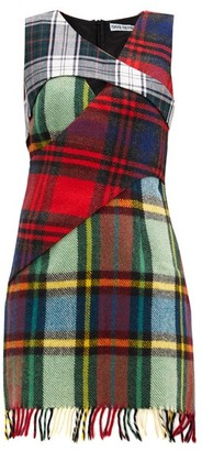 Rave Review Upcycled Checked-wool Mini Dress - Multi