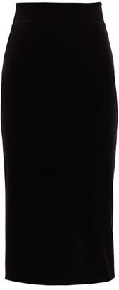 Chiara Boni Lumi Velvet Bodycon Skirt