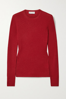Michael Kors Ribbed Cashmere Sweater - Red