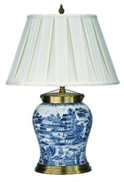 The Well Appointed House Tessa Blue and White Porcelain Lamp with Shade - CURRENTLY ON BACKORDER UNTIL LATE MARCH