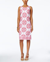 Charter Club Petite Medallion-Print Sheath Dress, Created for Macy's