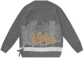 Loro Piana Kids Park Skyline cashmere sweater
