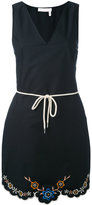 See by Chloe drawstring embroidery dress - women - Cotton - 36
