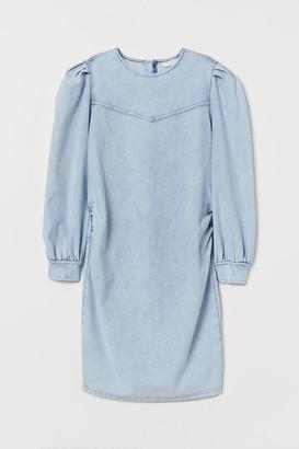 H&M MAMA Denim-look Dress - Blue