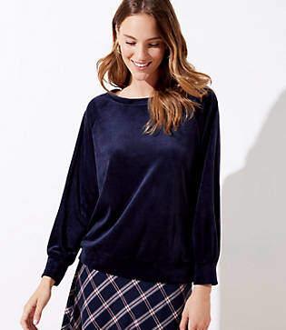LOFT Velour Sweatshirt
