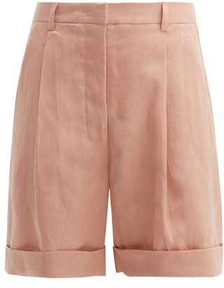 story. White Janice Linen Shorts - Womens - Light Pink