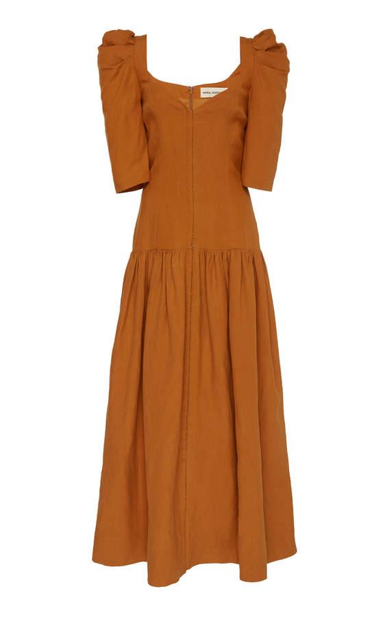 Mara Hoffman Phaedra Dropped-Waist Linen-Blend Maxi Dress
