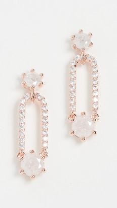 Theia Sofia Douple Drop Stud Earrings