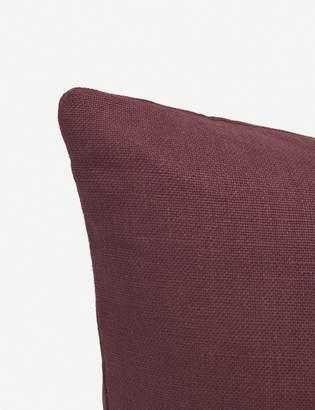 Lulu & Georgia Ines Belgian Linen Lumbar Pillow, Merlot