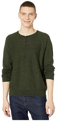 J.Crew Rugged Cotton Henley (Heather Forest Shadow) Men's Clothing