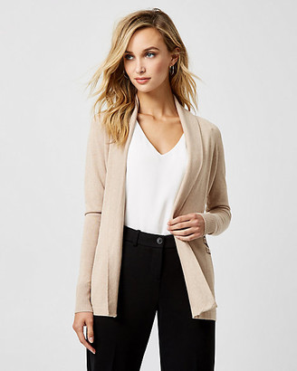 Le Château Knit Shawl Collar Open-Front Cardigan