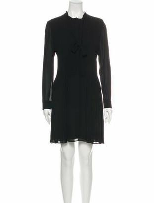 Saint Laurent 2015 Mini Dress Black