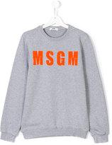 MSGM logo print sweatshirt - kids - Cotton - 14 yrs