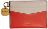 Givenchy Red and Pink Edge Card Holder