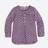 J.Crew Factory Girls' printed voile tunic